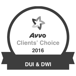 Avvo Client's Choice 2016 DUI & DWI Badge